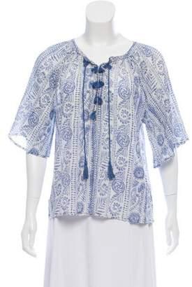 Antik Batik Abstract Print Short Sleeve Top