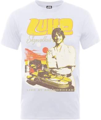 Star Wars Luke Skywalker Rock Poster T-Shirt