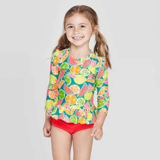 b37da5c5594 Target Toddler Girls' Long Sleeve Rash Guard Set - Yellow
