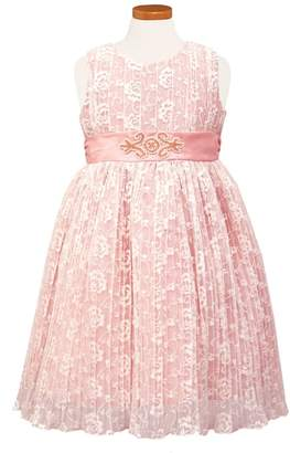 Sorbet Pleat Lace Party Dress