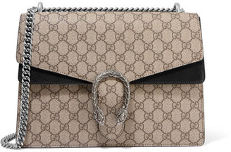Gucci - Dionysus Medium Coated-canvas And Suede Shoulder Bag - Beige $2,290 thestylecure.com