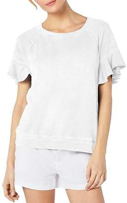 Michael Stars Ruffled Short-Sleeve Sweatshirt