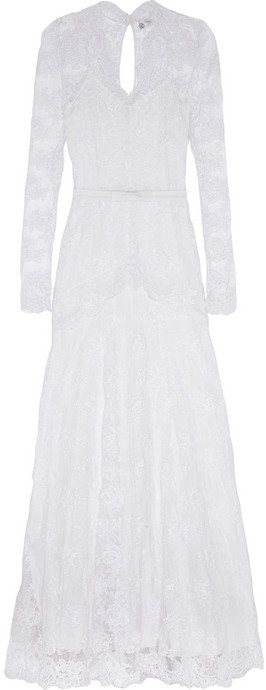 Temperley London Guinevere corded lace gown