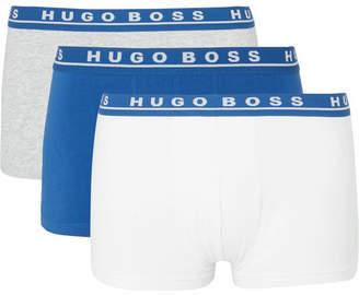 HUGO BOSS Three-Pack Stretch-Cotton Boxer Briefs - Men - Multi