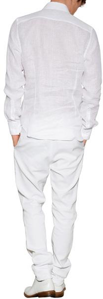Ermanno Scervino Stretch Cotton Pique Slim Jeans