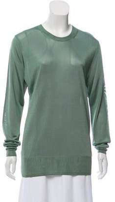 Dries Van Noten Crew Neck Long Sleeve Sweater Green Crew Neck Long Sleeve Sweater