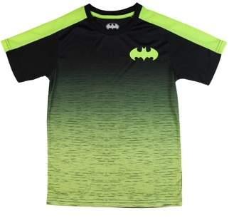 Batman Boys' Two-Tone Poly Short Sleeve T-Shirt