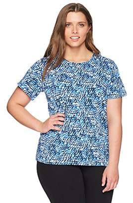 Rafaella Women's Plus Size Printed Embellished Knit Tee