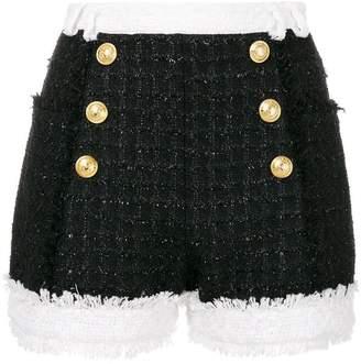 Balmain tweed double breasted shorts
