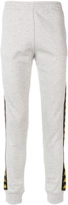 Kappa logo band print track pants