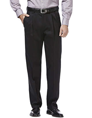Haggar Premium No Iron Classic-Fit Pleated Khakis