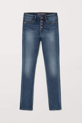 H&M Skinny Fit High Jeans - Blue