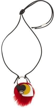 Marni shearling crystal necklace