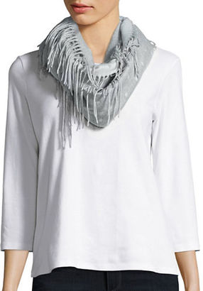 Lord & Taylor Dotted Loop Scarf $48 thestylecure.com