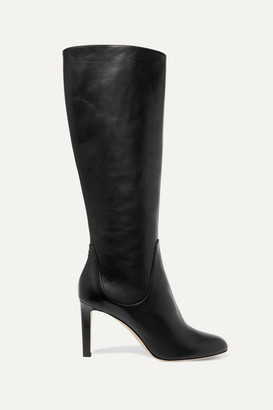 Jimmy Choo Tempe 85 Leather Knee Boots - Black