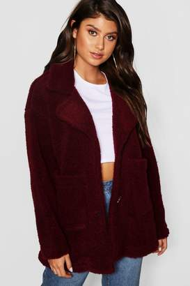 boohoo Teddy Faux Fur Coat