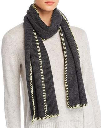 Aqua Whipstitch Cashmere Scarf - 100% Exclusive