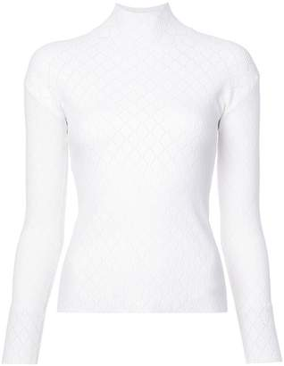 Cédric Charlier long-sleeve knitted top