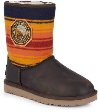 UGG Women's Short Grand Canyon Wool Stripe Boots