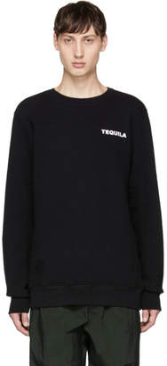 Tim Coppens Black Printer MA-1 Crewneck Sweatshirt