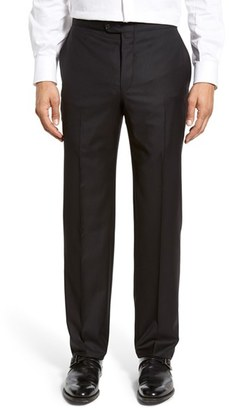 Men's Hickey Freeman Flat Front Wool Formal Trousers $262.50 thestylecure.com
