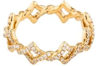David Yurman 18K Diamond Venetian Quatrefoil Ring