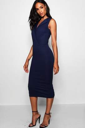 boohoo Tall Blazer Sleeveless Midi Dress