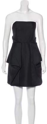 Tibi Strapless Mini Dress