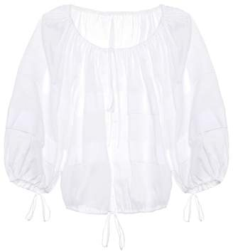 Three Graces London Estelle cotton blouse
