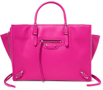 Balenciaga Papier A6 Small Textured-leather Tote - Pink