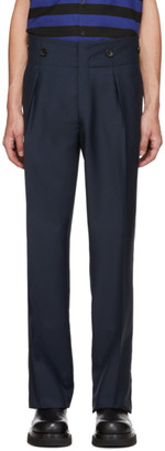 Lanvin Navy High-Waisted Trousers