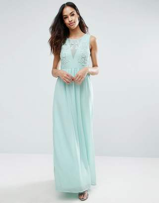 Club L Bridesmaid Maxi Dress With Rose Embroidery $48 thestylecure.com