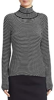 Piazza Sempione Women's Stripe Knit Turtleneck