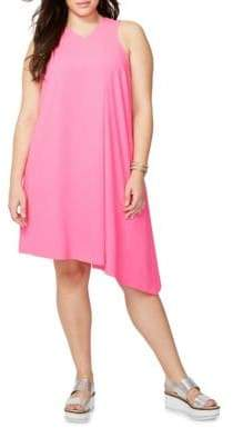 Rachel Roy Plus Pleated Front Dress