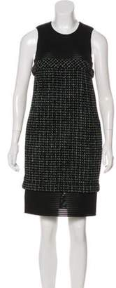 Chanel Tweed Sheath Dress Black Tweed Sheath Dress