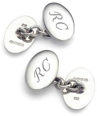 Aspinal of London Classic Double Domed Sterling Silver Cufflinks
