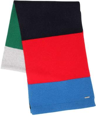 DSQUARED2 Striped Wool Knit Scarf
