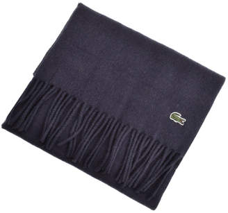 14e1557855d4 at Mainline Menswear · Lacoste Merino Wool Ribbed Scarf Navy