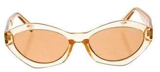 Quay Tinted Round Sunglasses