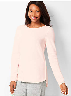Talbots Brushed Melange Crewneck Top