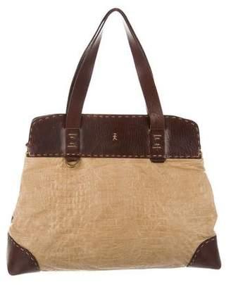 Henry Beguelin Embossed Leather Shoulder Bag