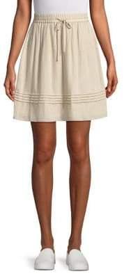 Halston H Tie Waist Skirt