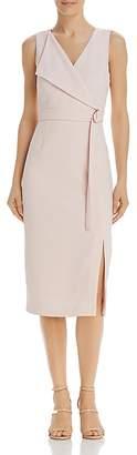 Adrianna Papell Faux-Wrap Sheath Dress