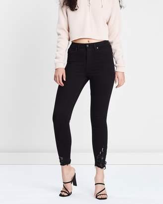 Topshop Rip Hem Jamie Jeans