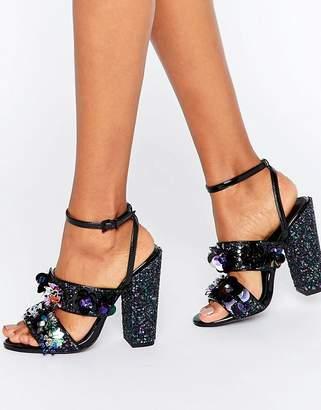 Asos Design HEROISM Embellished Heeled Sandals