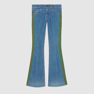 Gucci Stretch denim flare pant