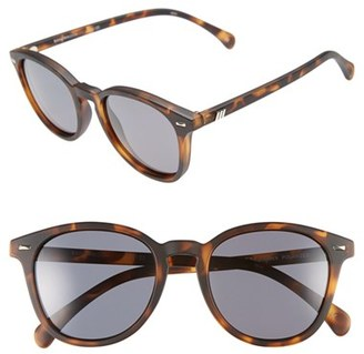 Women's Le Specs 'Bandwagon' 51Mm Polarized Sunglasses - Matte Tort/ Smoke Mono Polar $69 thestylecure.com