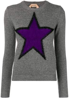 No.21 star embroidered sweater
