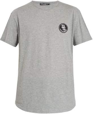 Dolce & Gabbana Logo-patch cotton-jersey T-shirt