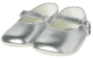 Janie and Jack Metallic Silver Crib Shoe